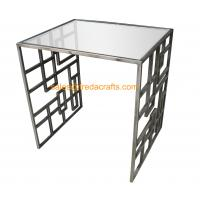 High Standard Metal Frame Gold Finish Tempered Glass Top Coffee Table Manufactures
