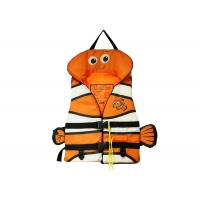 Floating Children's Sport Life Jackets Orange Color Cute Cartoon Style Manufactures