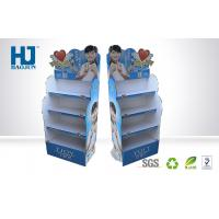 Beautiful promotional corrugated cardboard display stand for cosmetic Manufactures