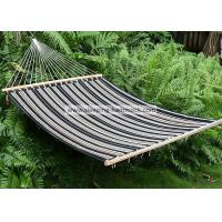 Quality Poolside Quilted Fabric Hammock , Clothhammock Double Replacement Charcoal Grey Stripe for sale