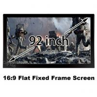 Bright 3D Projector Screen 92inch Matt White DIY Fixed Frame 16:9 Projection Screens 1080p Manufactures