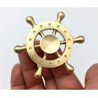 Cheap Copper Old Captain Wheel Hand Spinner Toy For Realese Anxiety / Ordom for sale