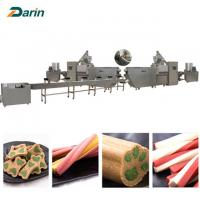 Single screw Dog Food Extruder dog pet chews  customizable Voltage Manufactures