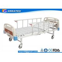 Aluminum Alloy Handrail Single Crank Manual Hospital Bed With Silent Wheels Manufactures