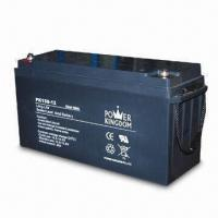 12V Solar Battery with 134A Nominal Capacity, Measures 342 x 172 x 280mm Manufactures