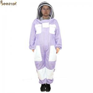 Purple 3 Layer Beekeeper Suit Ventilated Beekeeping Suit Beekeeper Uniform