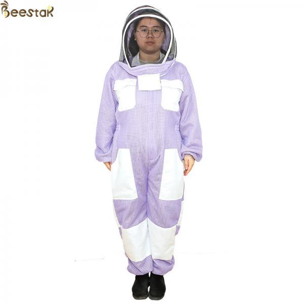 Quality Purple 3 Layer Beekeeper Suit Ventilated Beekeeping Suit Beekeeper Uniform for sale