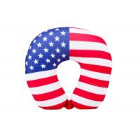 Personalized US Flag Airplane Neck Pillow , U Shaped Neck Pillow For Travel Manufactures
