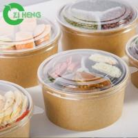 Mini Eco - Friendly Kraft Paper Bowls Disposable Heat Resistant For Hot Food Manufactures