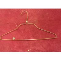 Fashion White Clothes Wire Hangers 1.8mm - 2.0mm Thickness For Supermarket Manufactures