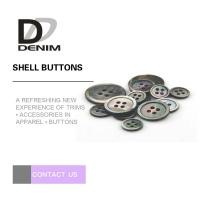 Multi Size Black Mother Of Pearl Buttons , Coloured Shell Buttons Four Holes Manufactures