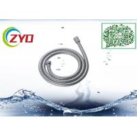 304 Stainless Steel Double locker Flexible  Handheld Bathroom Shower Hose 1.5m Longth Chrome Plated Manufactures