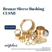 China Lubrication Pockets Wrapped Bronze Bearings CuSn8 CW453K 092 Easy Assembly on sale
