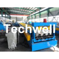 High Precision Steel Structure Floor Deck Roll Forming Machine For Metal Decking Sheet Manufactures