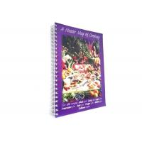 CMYK Full Color Softcover Book Printing Recipe Book Making Hot Stamping Finishing Manufactures