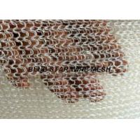 PP / PE / PTFE / Nylon Knitted Metal Mesh Wire Dia 0.15mm - 0.28mm For Filtration & Separation Industries Manufactures