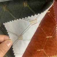 Embroidery 150gsm Reach Plaid Auto Upholstery Fabric Manufactures