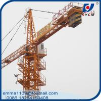 Cheap 4T TC5010 Hydraulic Telescopic Tower Crane Top-slewing Types Equipment for sale