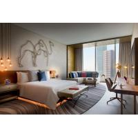 China Hotel Custom Commercial Hospitality Furniture Set Modern Plywood Bedroom Theme on sale