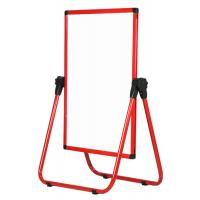 Red Frame U Stand Mobile Magnetic Whiteboard Anti - Deform Performance Manufactures