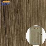 Decorative High Glossy PVC Furniture Film Wood Grain / Metallic Color Manufactures