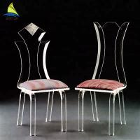 Bedroom Custom Acrylic Furniture Eco - Friendly Clear Transparent Acrylic Chair Manufactures