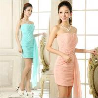 China Sexy sweetheart sheath short homecoming dress blue/fuchsia/white/pink/red hottest women chiffon dress on sale