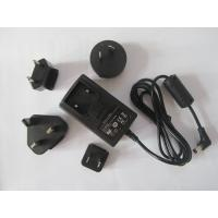 Interchangeable plug power adapter 12V 1A AC/DC switching power supply with EU,UK,AU,USA Manufactures