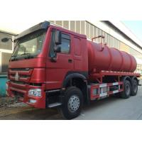 Transporting Sewage Septic Tank Cleaning Truck / Septic Pumping Truck 17CBM LHD 336HP Manufactures