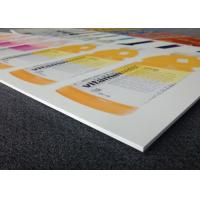 China High Density Weatherproof Sign Board , Exterior Pvc Display Board Smooth Surface on sale