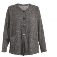 Button Closure Grey Color Womens Knit Cardigan , Regular Ladies Autumn Cardigans Manufactures
