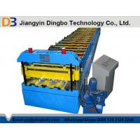 Chain Transmission Metal Deck Roll Forming Machine With Trapezoidal Profile Manufactures