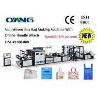 Cheap Computer Control Non Woven Bag Making Machine , Handle Bag Making Machine for sale