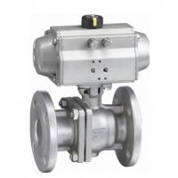 ANSI 150LB ASME B16 34 Flange End Ball Valve , Lockable 4 Hydraulic Actuated Ball Valve