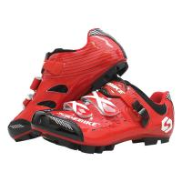 ODM Red Cycling Mountain Mtb Shoes With SPD Pedal Manufactures