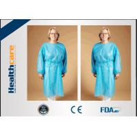 Safety Disposable Surgical Gowns / Medical Isolation Gowns Free Sample 35/40/45Gsm Manufactures