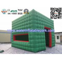 Green Cube Inflatable Cube Tent / Inflatable Marquee Tent For Advertising Manufactures