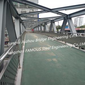 Trail Prefabricated Pedestrian Bridges Over Roads , Pedestrian Flyover Urban Traffic Solution Manufactures