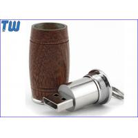 Cheap Wine Barrel 1GB Driver USB Storage Device Wood Body Metal PCBA for sale