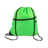 Buy cheap Colorful Polyester Drawstring Bag Backpack Waterproof With Front Zipper Pocket from wholesalers