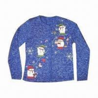 China Men's Christmas Sweater with Embroidered Snowman, Suitable for Christmas Gift on sale