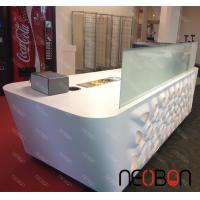 Home Bar Counter Modern L-Shape led light countertop Solid Surface Small Bar Counter Designs Manufactures