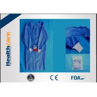 SMS Sterile Disposable Surgical Gowns , Disposable Theatre Gowns Anti - Blood S-3XL Manufactures