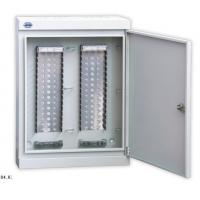 Wall Mount Fiber Box For LSA Module , 100 - 1600 Pair Key Lock Cable Distribution Cabinet Manufactures