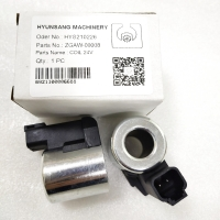 Solenoid Coil 24V ZGAW-00008 XKBL-00084 XKAL-00065 For Hyundai Excavator R1200-9 R140LC-9 Manufactures
