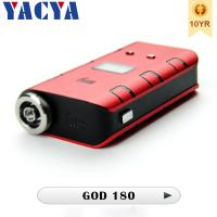 Buy cheap Variable Wattage 510 Electronic Cigarettes GOD 180 Mod 180 Watt from wholesalers