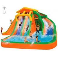 Orange And Blue 0.55mm PVC Tarpaulin Inflatable Water Slide/New design Backyard Slide Manufactures