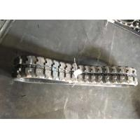 37 Link Excavator Rubber Tracks Black Color Long Durability With OEM