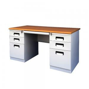 SGS 1400X700X750MM White Computer Desk With Storage Manufactures