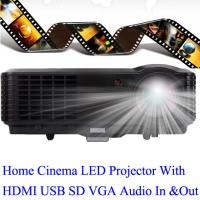 China Good Brand LED Projector With HDMI USB TV Tuner Work For PS DVD iPhone Computer Manufactures